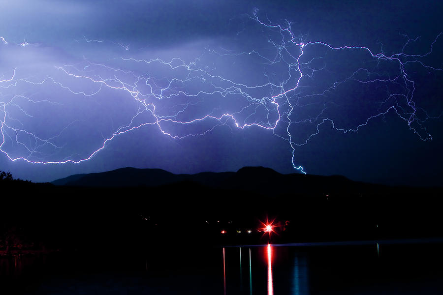 Lightning Photograph - Electric Skies  by James BO  Insogna
