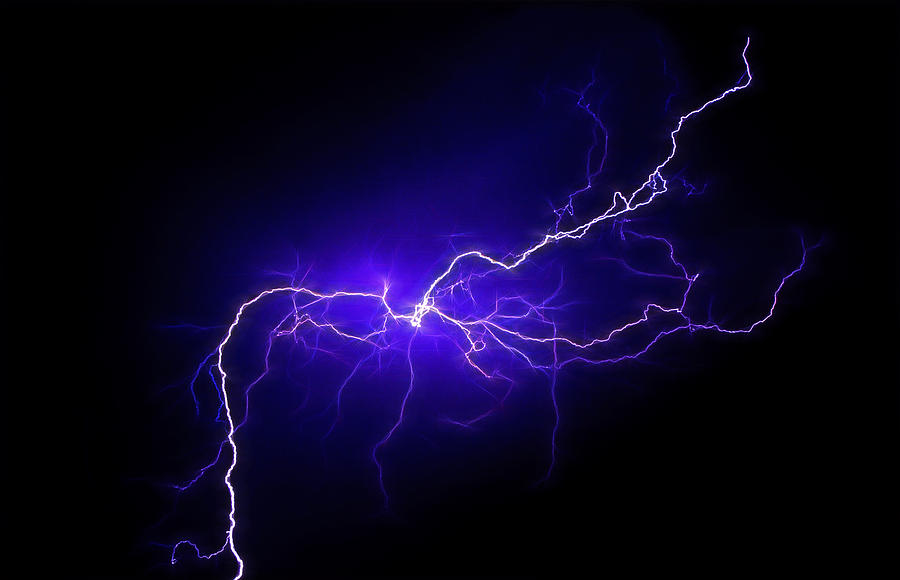 Lightning Photograph - Electric Sky by Kathleen Prince