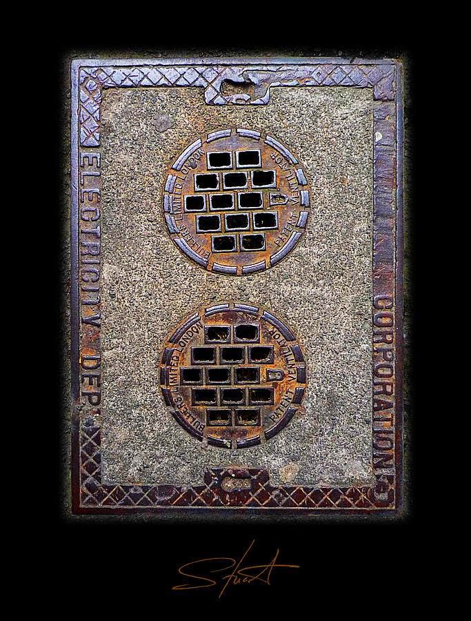 Manhole Photograph - Electric Smiles by Charles Stuart