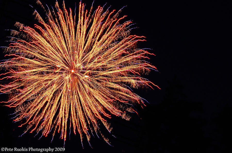 Fireworks Photograph - Electric Sun by Pete Ruokis
