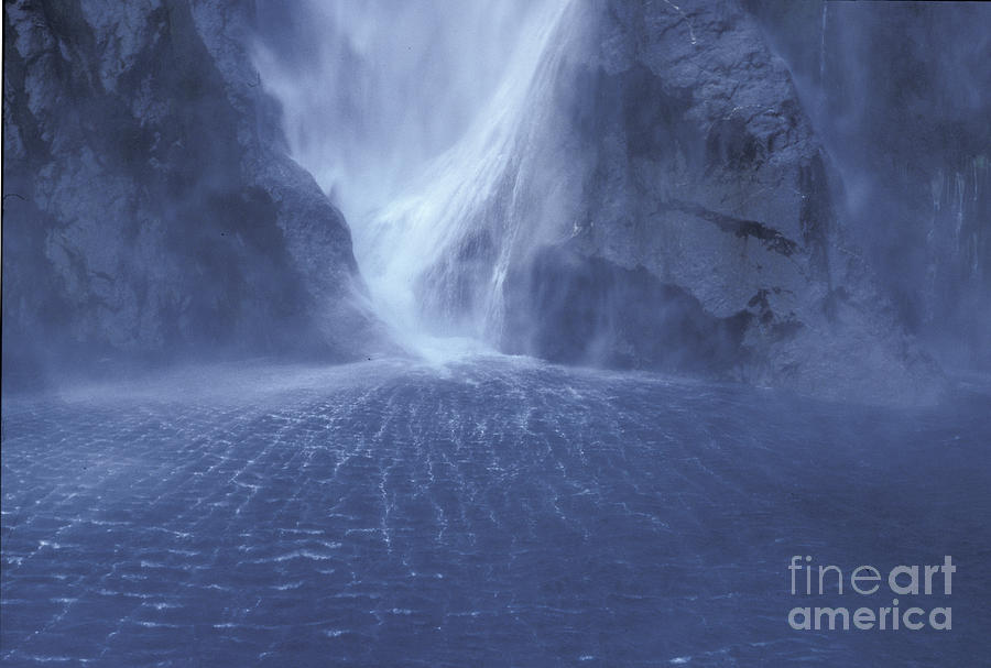 Milford Sound Photograph - Electric Water - Milford Sound by Sandra Bronstein