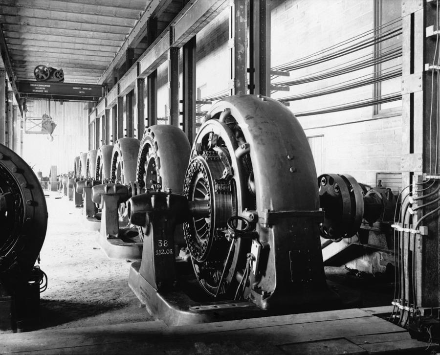 History Photograph - Electrical Generators In Edison Sault by Everett