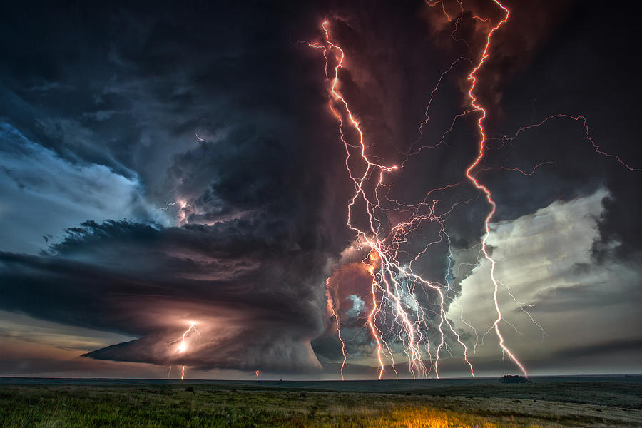 Electrical Storm Photograph by James Menzies