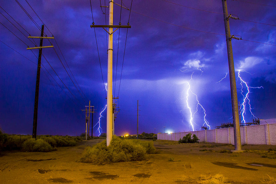 Lightning Photograph - Electricity Alley by Kyle Field