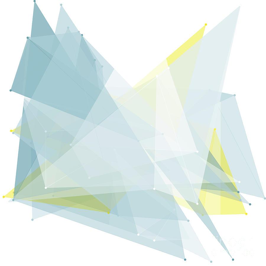 Abstract Digital Art - Electricity Polygon Pattern by Frank Ramspott