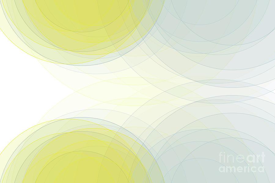 Abstract Digital Art - Electricity Semi Circle Background Horizontal by Frank Ramspott