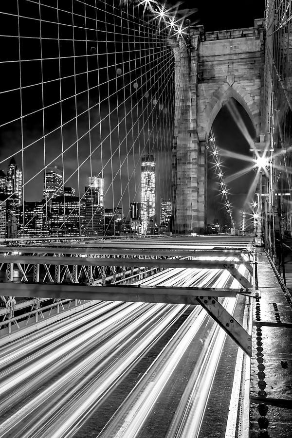 Brooklyn Bridge Photograph - Electrify by Az Jackson