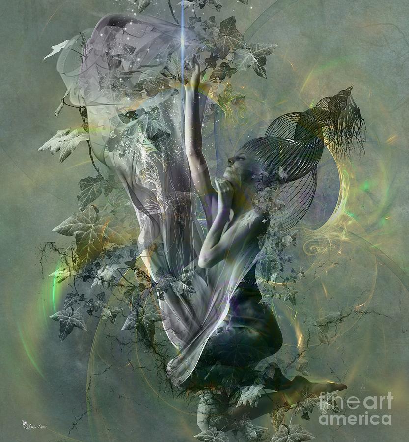 Woman Digital Art - Electro Vine by Ali Oppy