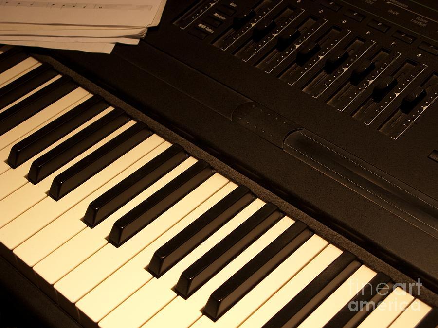 Keyboard Photograph - Electronic Keyboard by Ann Horn