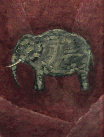 Elephant Painting - Elefante by Adrian Gonzalez