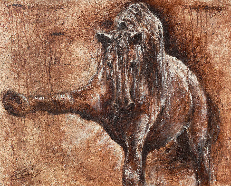 Horse Painting - Elegance Of Joy by Paula Collewijn -  The Art of Horses