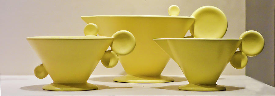 Elegant 1950s ceramic cups by Matthew Bamberg