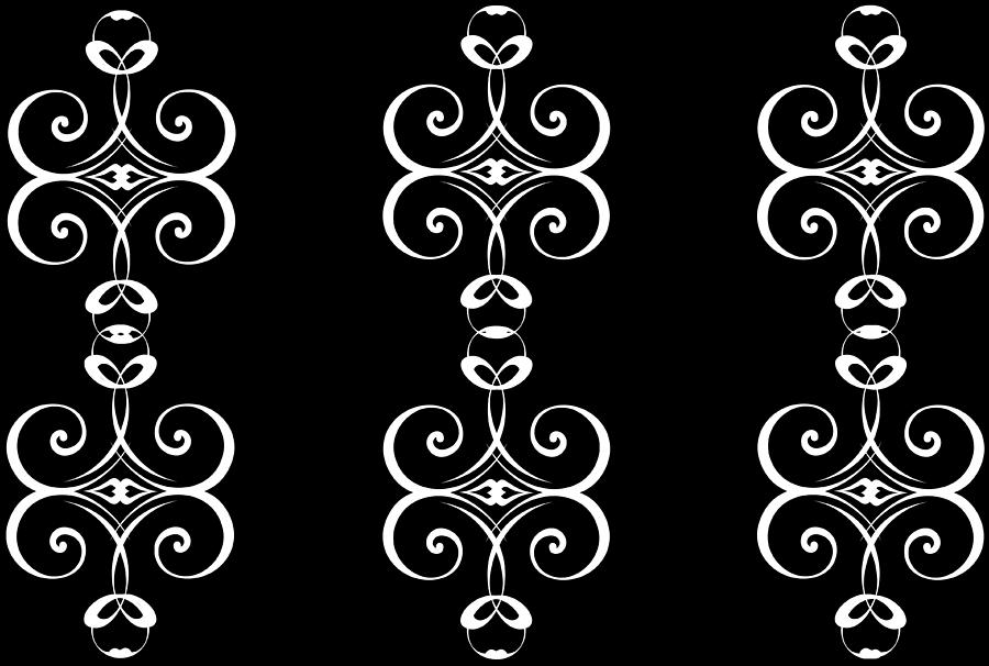 Elegant Black and White Scrollwork by Catherine Asoka Void