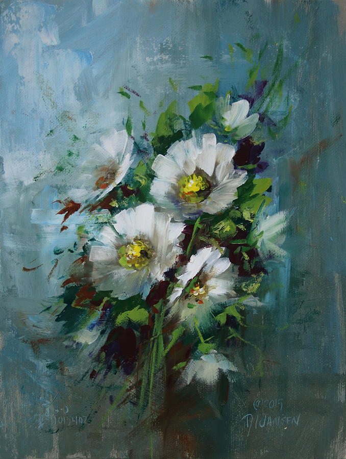 Flowers Painting - Elegant Blossoms by David Jansen