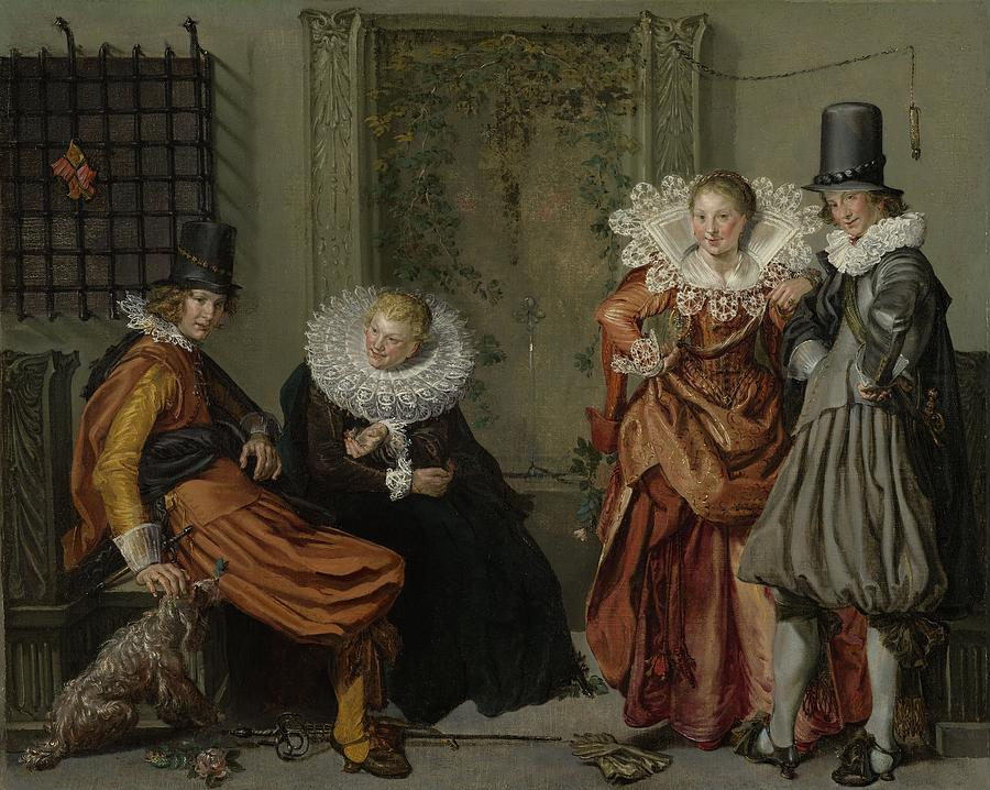 Elegant Couples Courting Painting