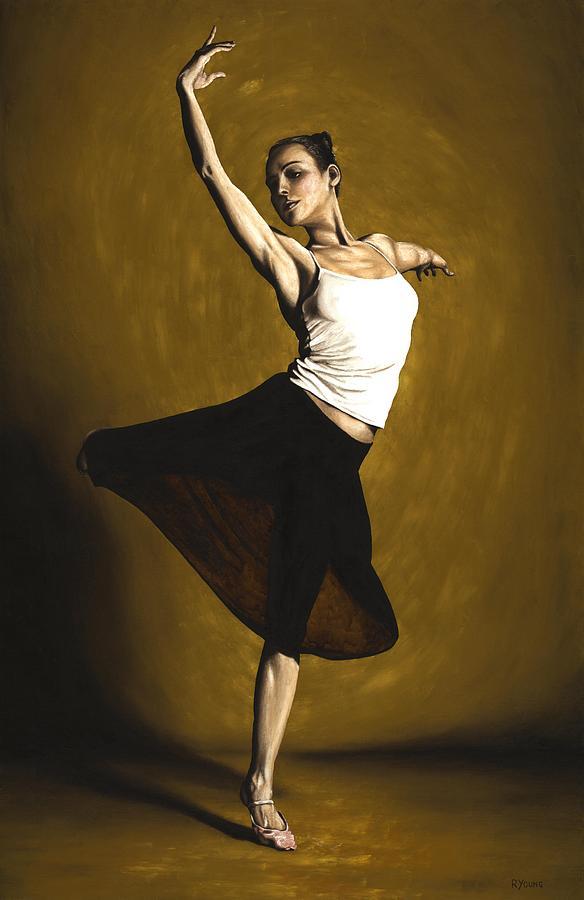 Elegant Painting - Elegant Dancer by Richard Young