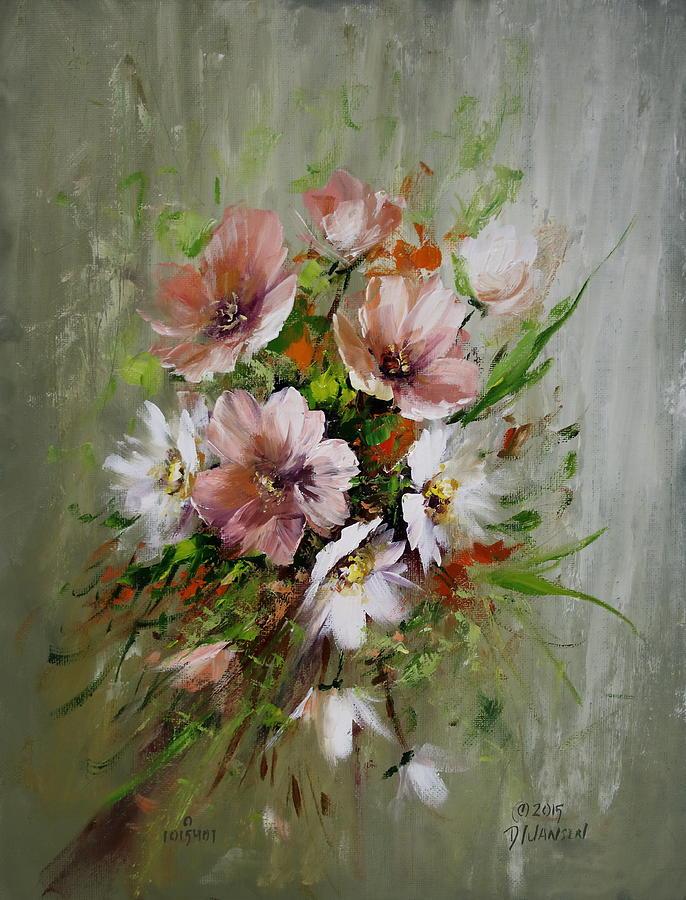 Flowers Painting - Elegant Flowers by David Jansen