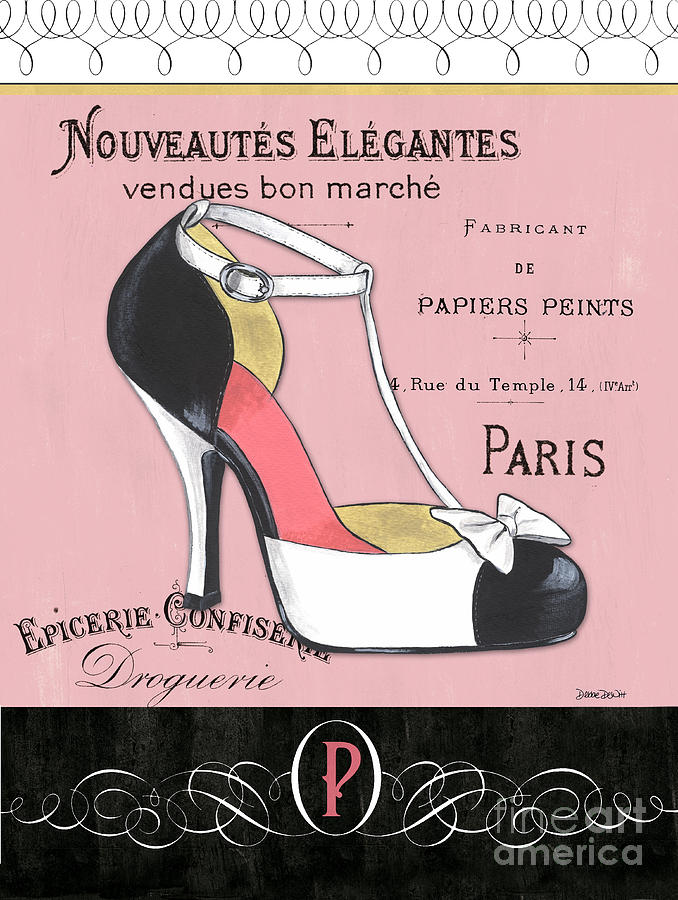 Fashion Painting - Elegant French Shoes 1 by Debbie DeWitt