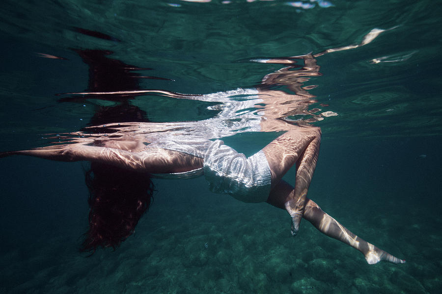Swim Photograph - Elegant Mermaid II by Gemma Silvestre