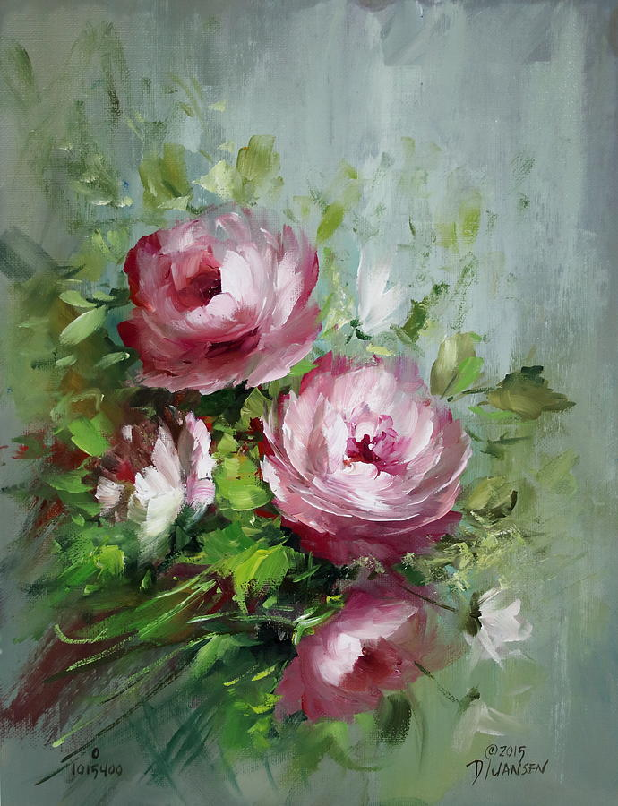 Roses Painting - Elegant Roses by David Jansen