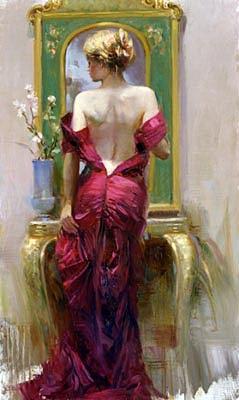 Elegant Seduction Painting by Pino
