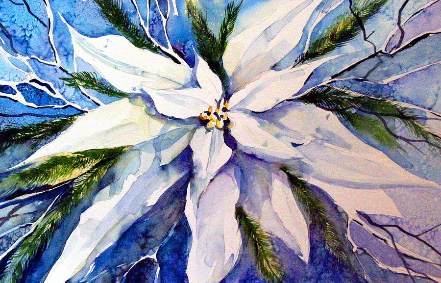 Christmas Painting - Elegant White Christmas by Mindy Newman