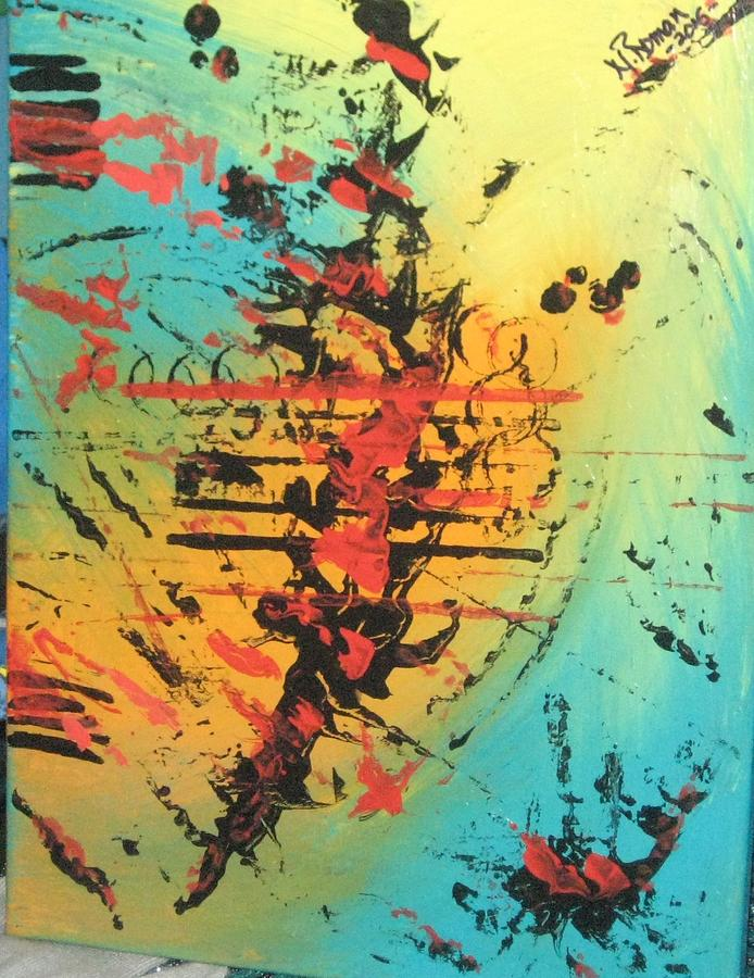 Bold Painting - Element Of Fear by Norma Roman