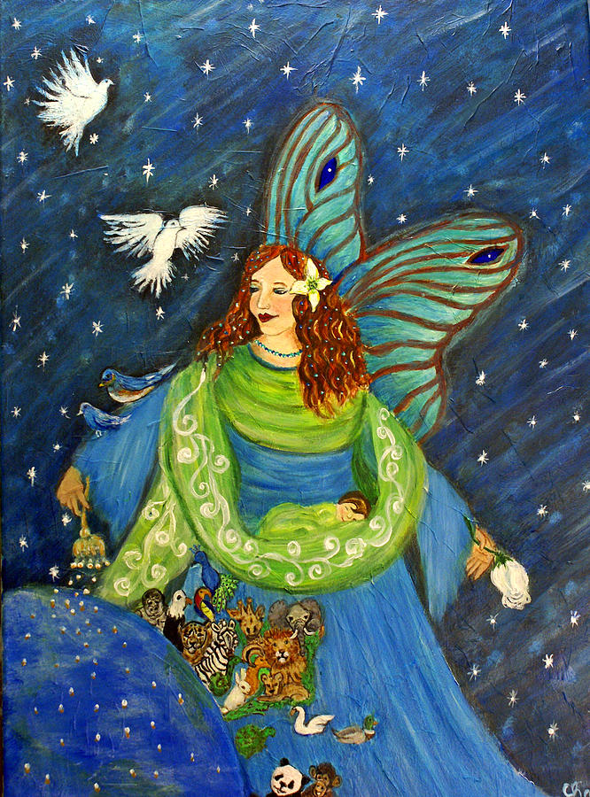 Angel Painting - Elemental Angel Of Earth by The Art With A Heart By Charlotte Phillips