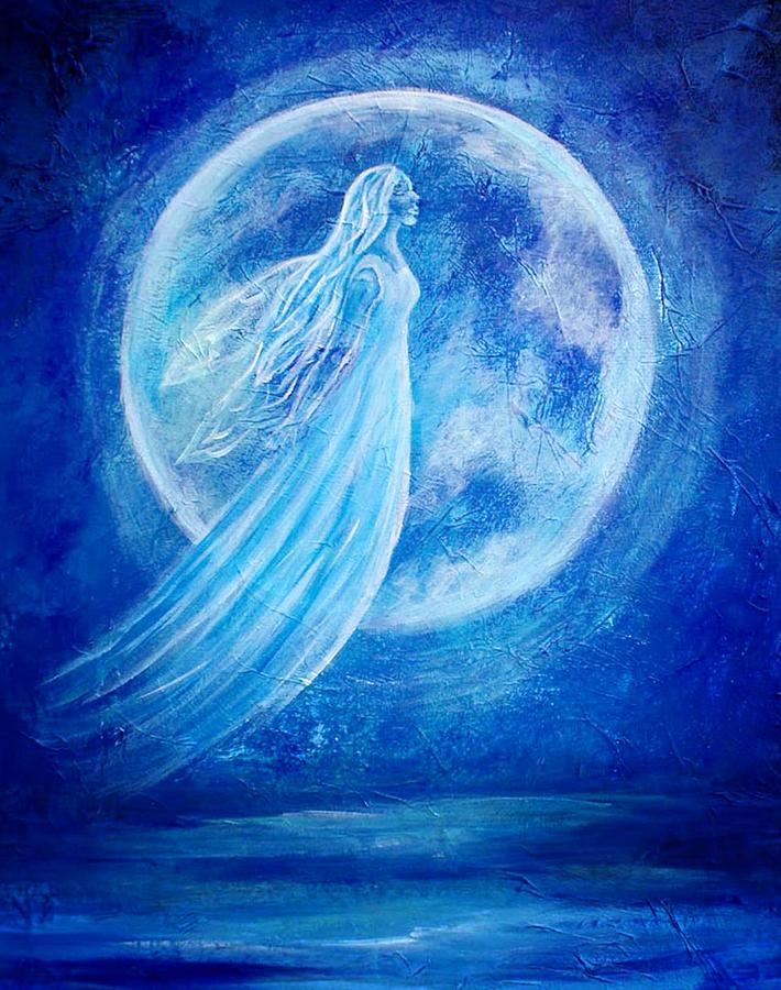 Angel Painting - Elemental Earth Angel Of Water by The Art With A Heart By Charlotte Phillips
