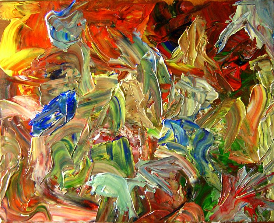 Weather Painting - Elemental Merge by Karen L Christophersen