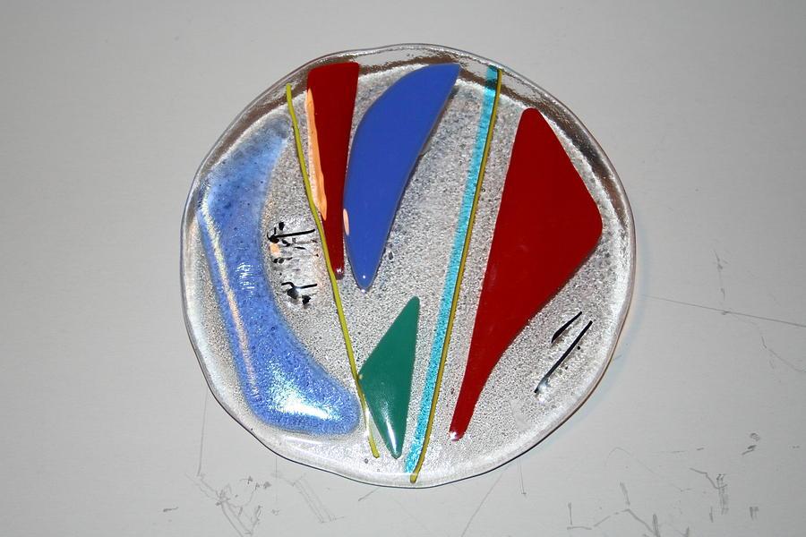 Fused Glass Glass Art - Elemental by Diane Morizio