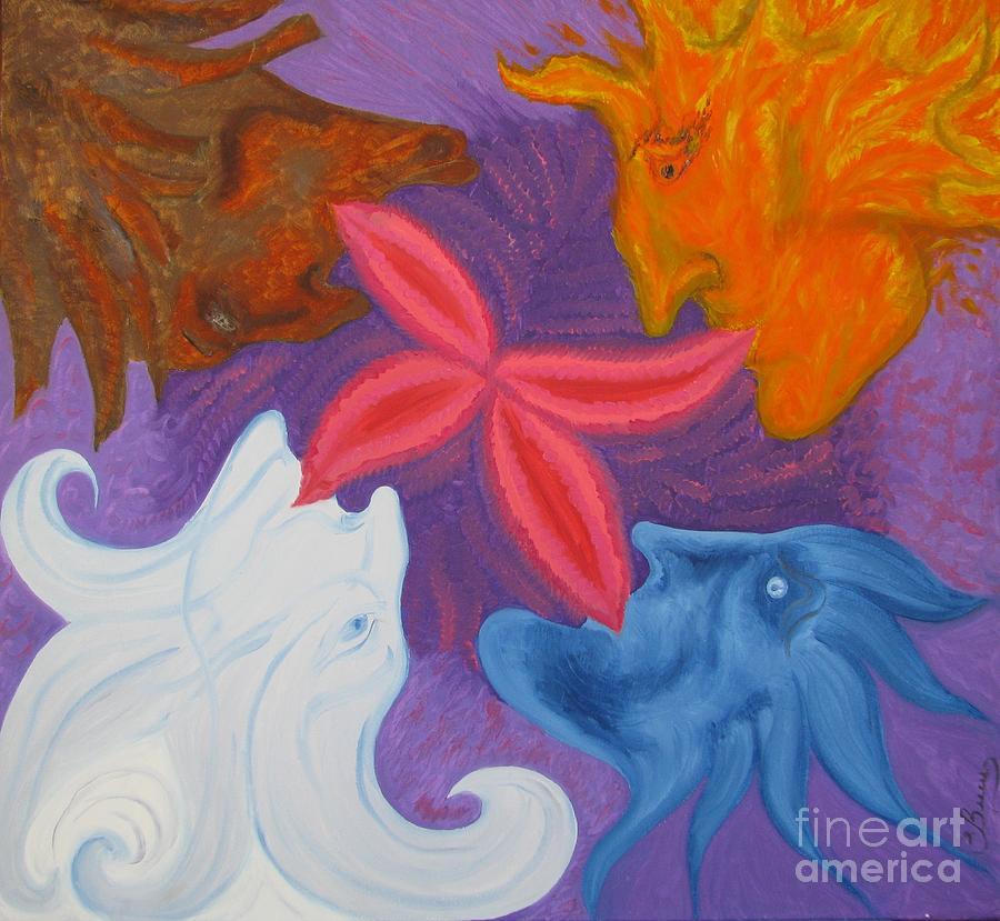 Oil Painting Painting - Elementals by Svetlana Vinokurtsev