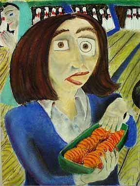 Portraits Pastels Painting - Elenas Stuffed Shells by Jerome Ferretti