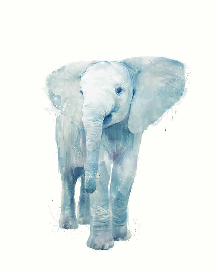 Elephant Painting - Elephant by Amy Hamilton
