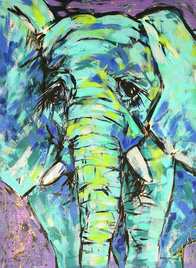 Elephant Painting - Elephant by Arrin Burgand