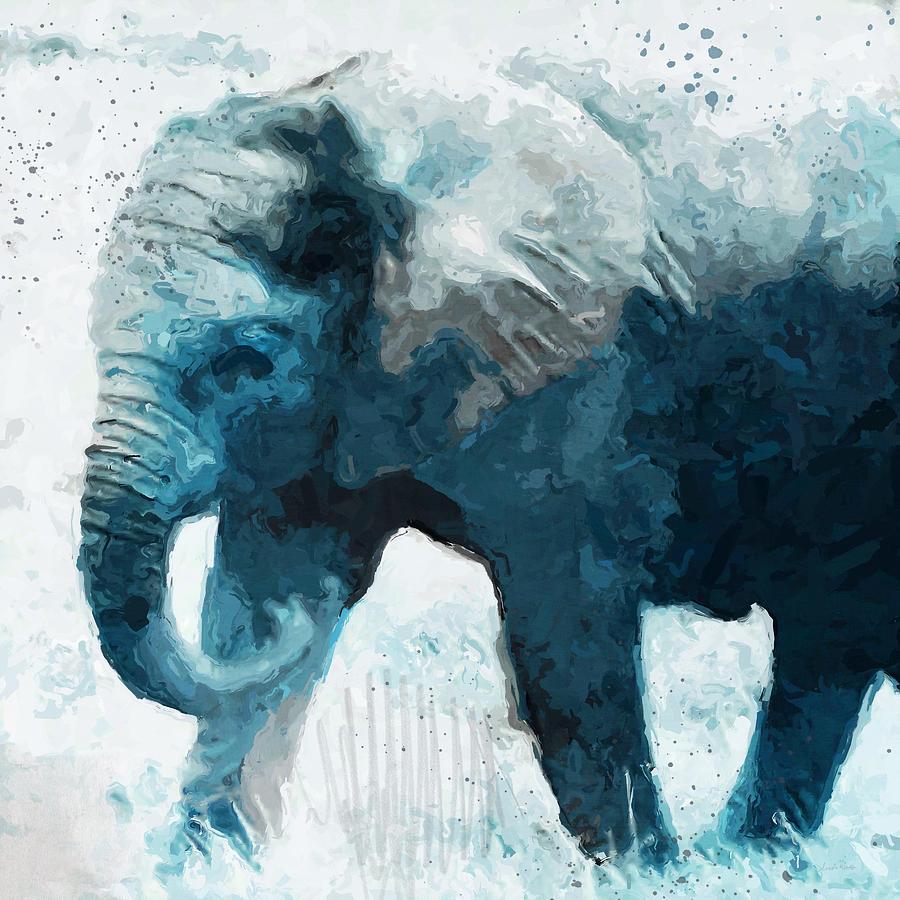 Elephant Digital Art - Elephant- Art By Linda Woods by Linda Woods