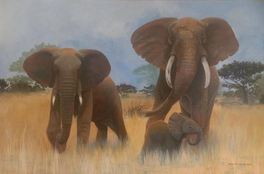 Elephant Family Painting