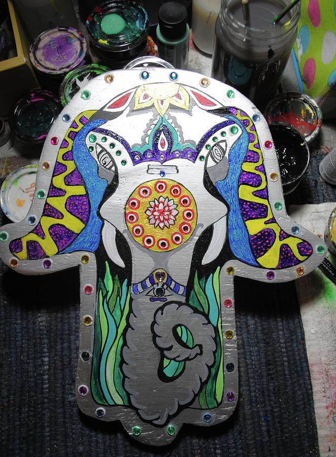 Elephant Hamsa by Patricia Arroyo