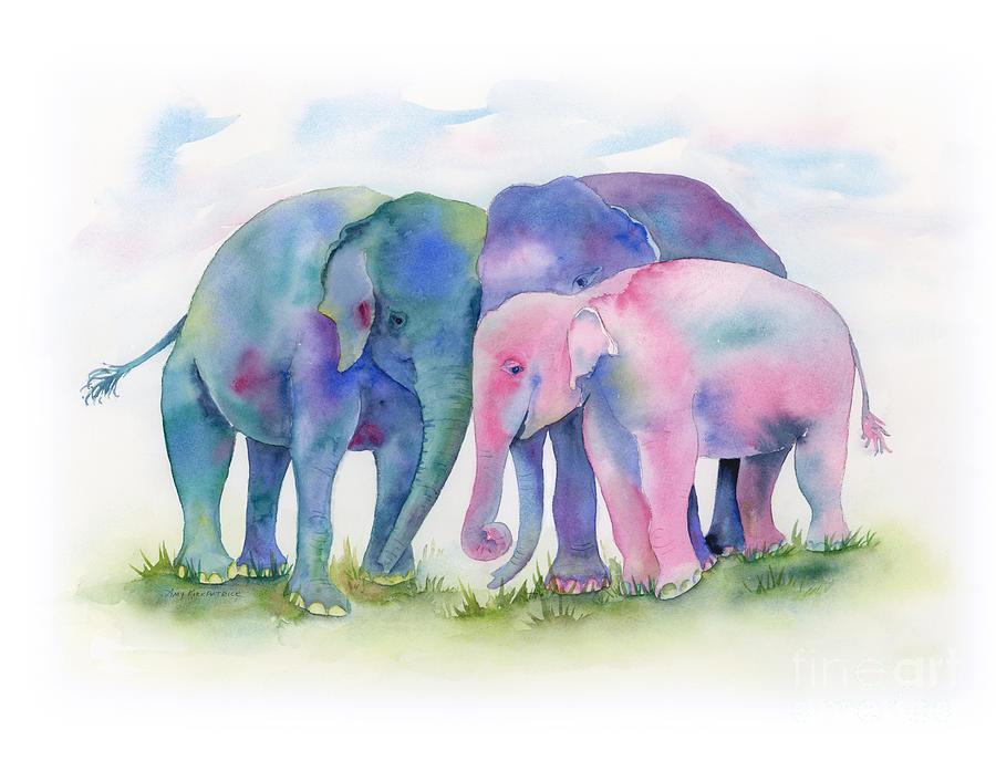 Elephant Hug Painting