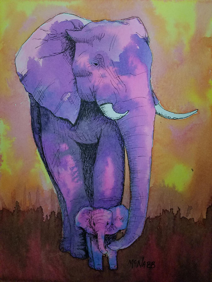 Elephant Painting - My Elephant   by Johnny McNabb