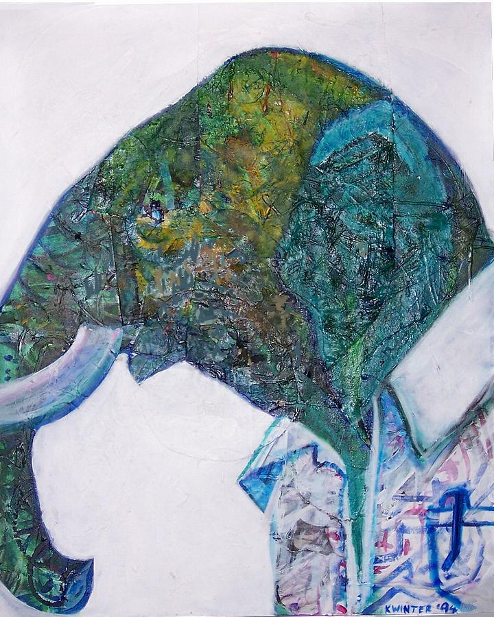 Elephant Mixed Media - Elephant Man by Dave Kwinter