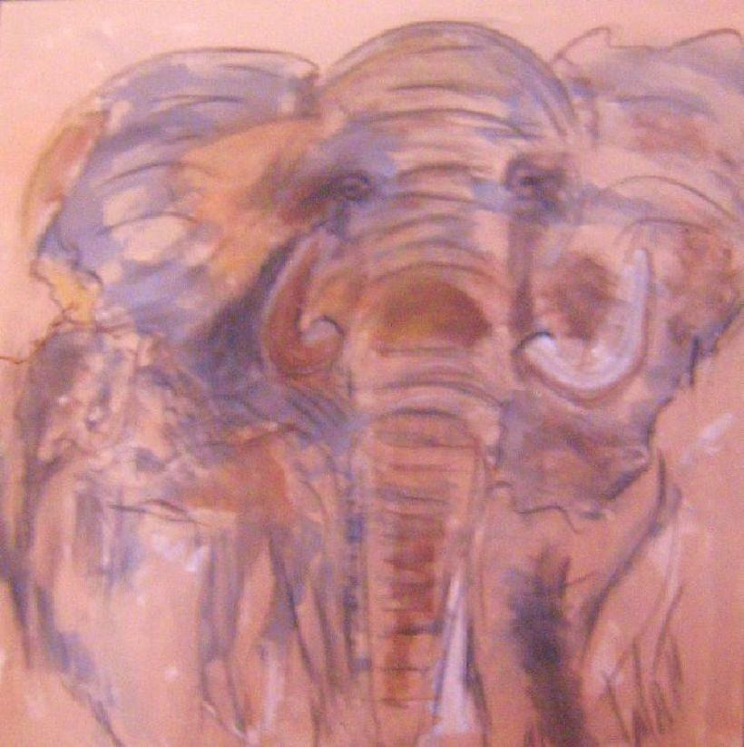 Animal Painting - Elephant Of Five by Tony Van der Watt
