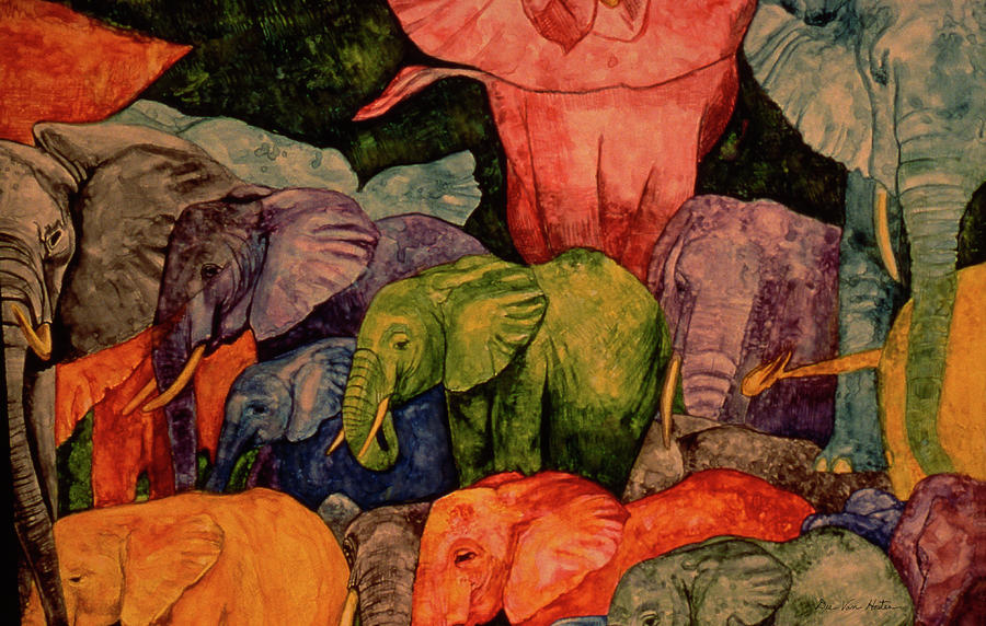 Elephant Party by Dee Van Houten