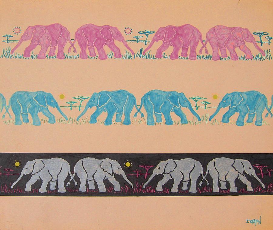 Elephant Pattern Drawing