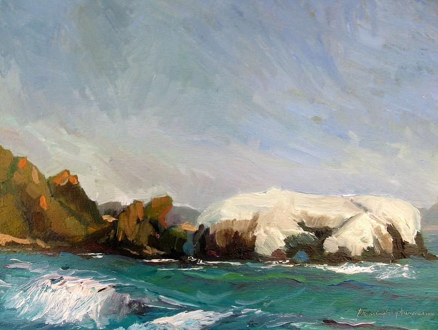 Waterscape Painting - Elephant Rock II by Thomas Glass Phinnessee