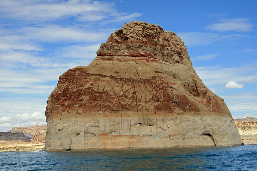 Rock Photograph - Elephant Rock Lake Powell by Chuck Wedemeier