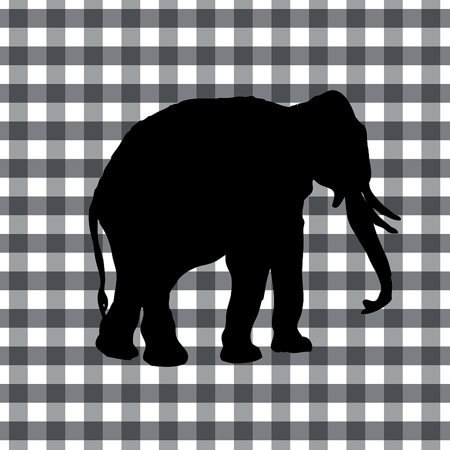 Elephant Digital Art - Elephant Silhouette by Linda Woods