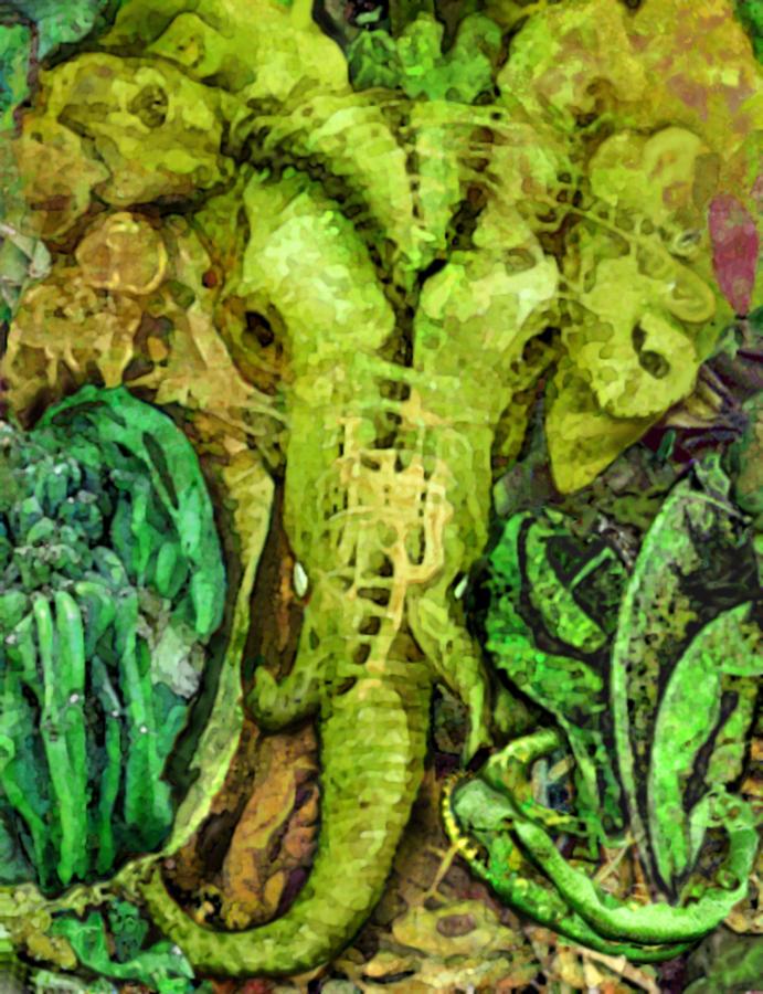 Digital Digital Art - Elephantosity by Brett Nickell
