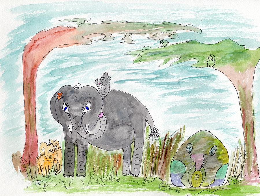 Elephoot and Crazy Dragon by Helen Holden-Gladsky