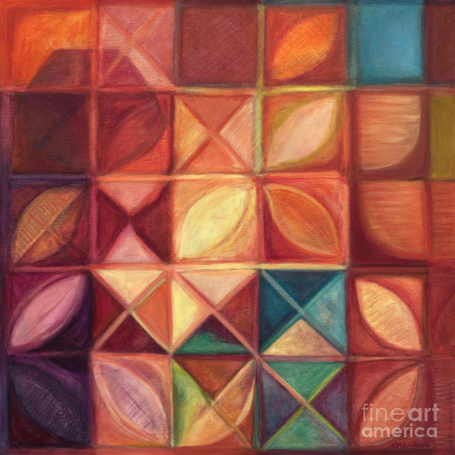 Red Painting - Elevating The Spirit - Finding Heart by Kerryn Madsen-Pietsch